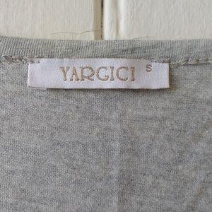Yargici Tops - Yargici Grey Layered Pocket Sleeveless Tank Tee